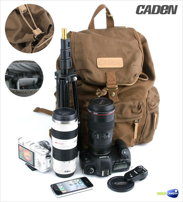 ed931837c5 CADEN F5 Waterproof Pure Cotton Canvas DSLR Camera Belt Shoulder Bag ...