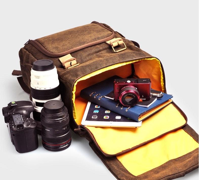 a2d393b374 Package size (L x W x H)  33 x 20 x 47 cm   12.97 x 7.86 x 18.47 inches.  Package contents  1 x Caden N5 Canvas Camera Bag