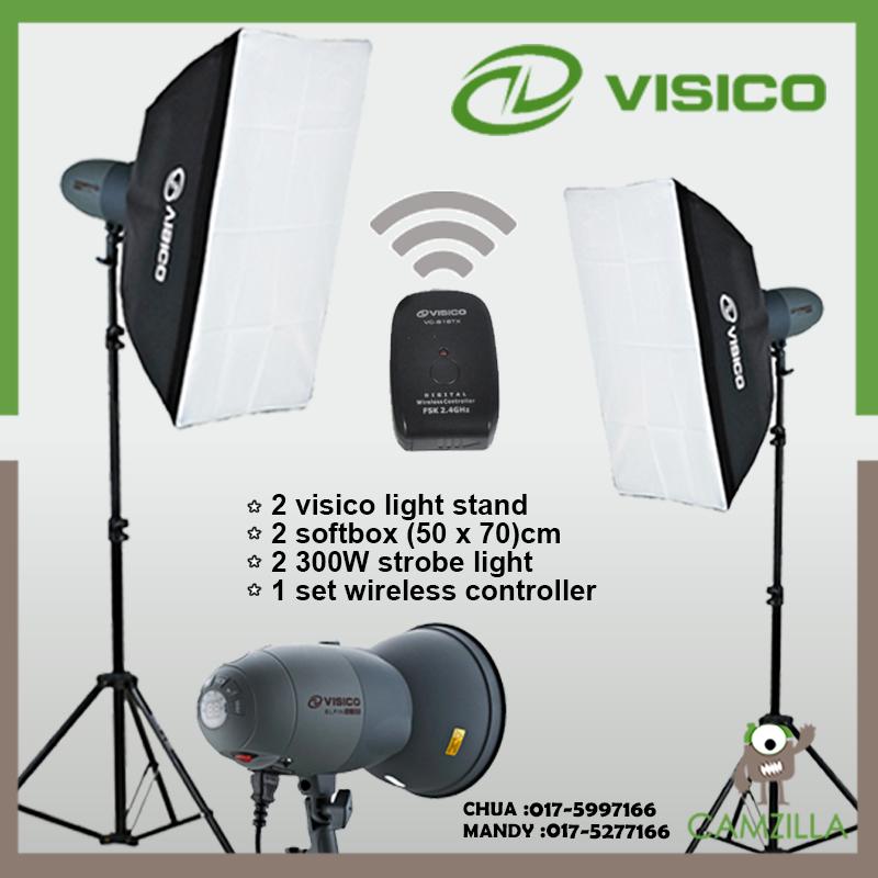 Studio Lighting For Sale: VISICO VT-300 Soft Box 2 X Studio Li (end 5/31/2018 8:15 PM