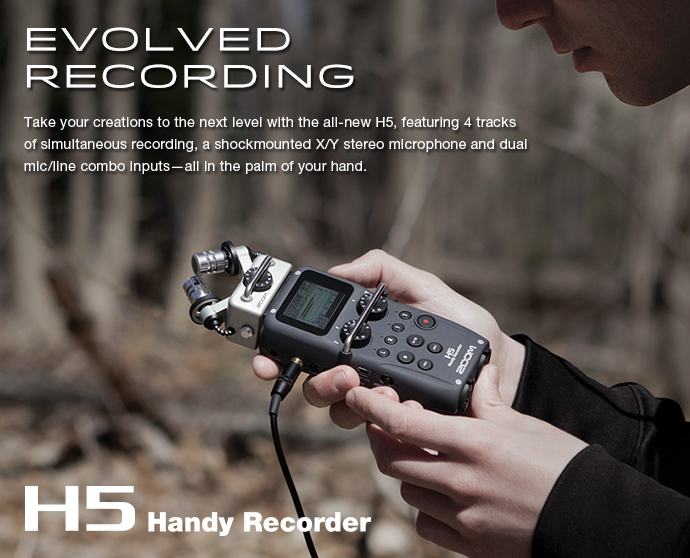 Zoom H5 XYH-5 Handy Recorder Audio Recorder - Free Shipping